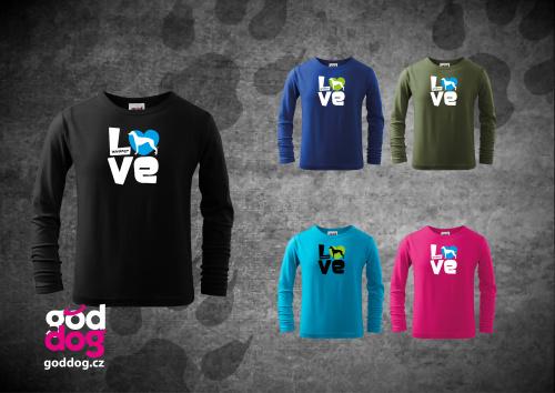 "Dětské triko s potiskem vipeta ""Love"", dl.rukáv"