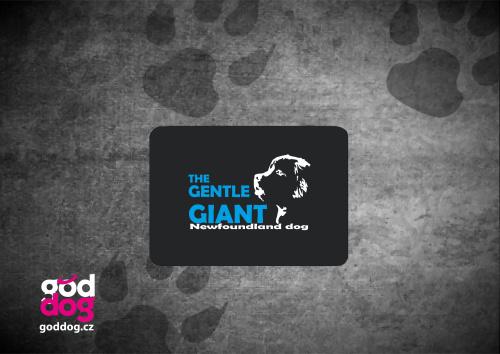 """Podložka pod myš s potiskem novofundladského psa """"Gentle Giant"""""""