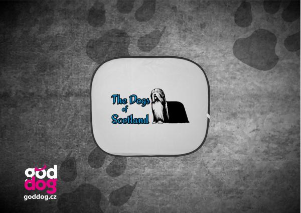 """Autostínítko s potiskem bearded kolie """"Dog of Scotland"""""""