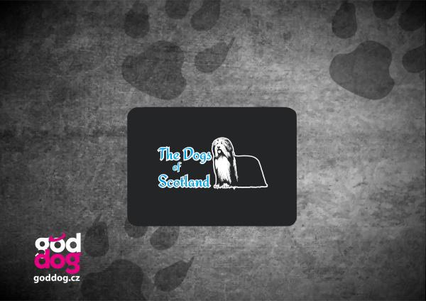 """Podložka pod myš s potiskem bearded kolie """"Dog of Scotland"""""""