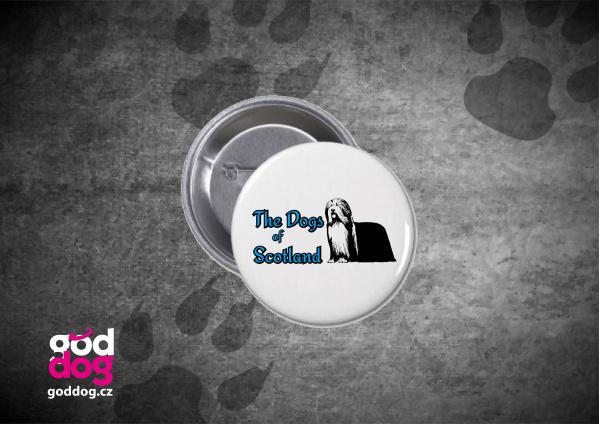 """Placka s potiskem bearded kolie """"Dog of Scotland"""""""