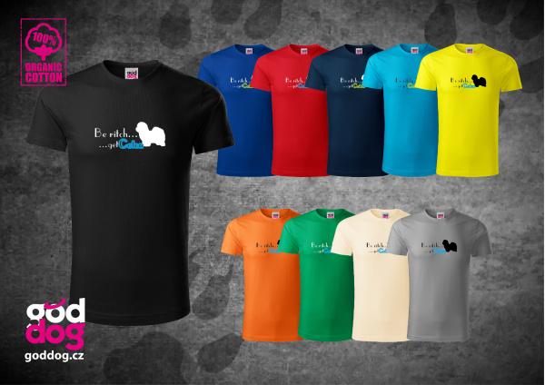 "Pánské triko s potiskem cotonka de tuléar ""Be Coton"", org.bavlna"