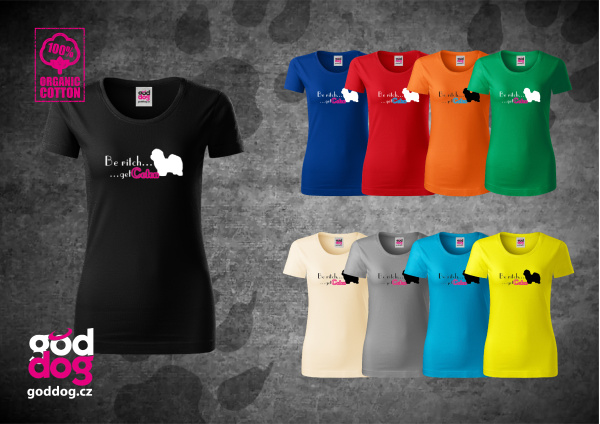 "Dámské triko s potiskem cotonka de tuléar ""Be Coton"", org.bavlna"