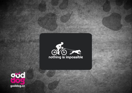 "Podložka pod myš s potiskem bikejöringu ""Nothing is impossible"""