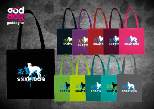 """Nákupní plátěná taška s potiskem vipeta """"Snap Dog"""""""