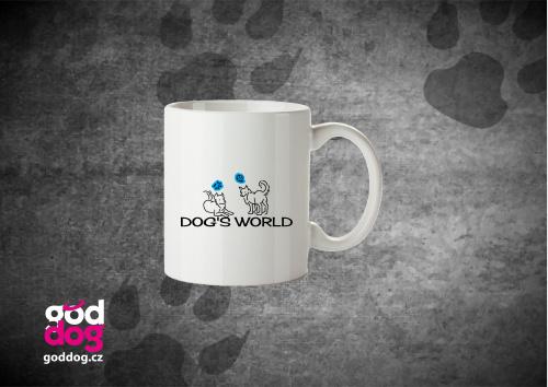 """Keramický hrnek s potiskem psa """"Dog's World"""""""