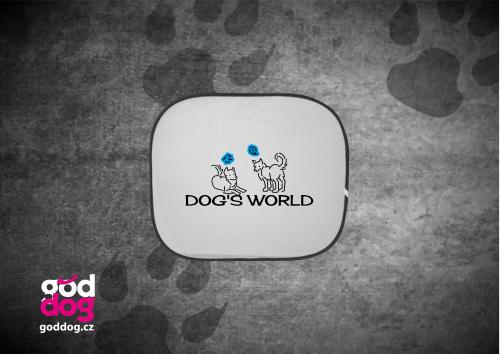 """Autostínítko s potiskem psa """"Dog's World"""""""