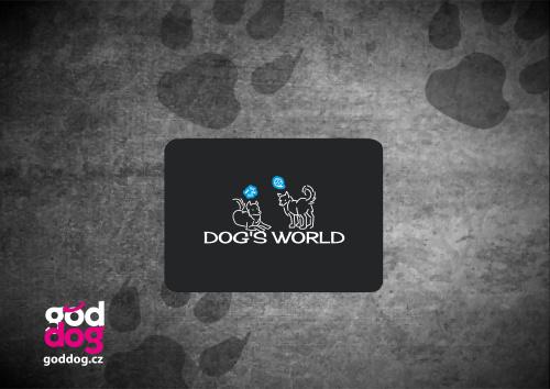 """Podložka pod myš s potiskem psa """"Dog's World"""""""