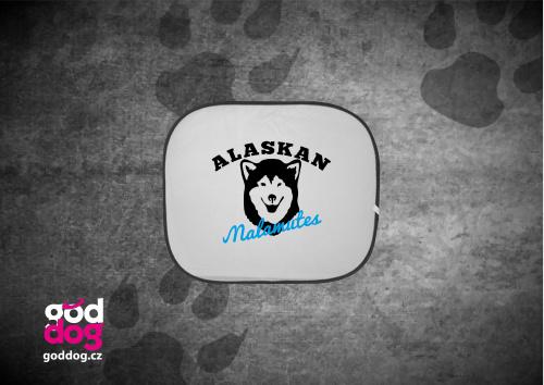 """Autostínítko s potiskem malamuta """"Alaskan Malamutes"""""""
