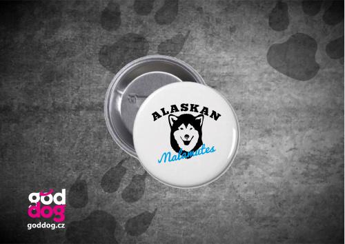 "Placka s potiskem malamuta ""Alaskan Malamutes"""