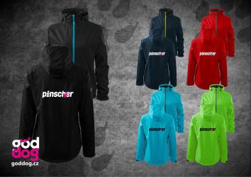 """Dámská soft.bunda s potiskem pinče """"Pincher"""", kontrast.zip"""