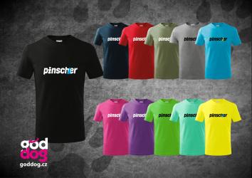 """Dětské triko s potiskem pinče """"Pincher"""", kr.rukáv"""