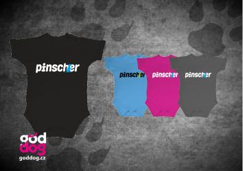 """Dětské body s potiskem pinče """"Pincher"""""""