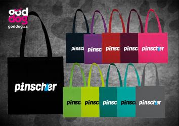 """Nákupní plátěná taška s potiskem pinče """"Pincher"""""""
