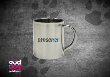 """Nerezový hrnek s potiskem pinče """"Pincher"""""""