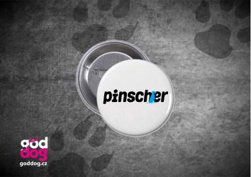 "Placka s potiskem pinče ""Pincher"""