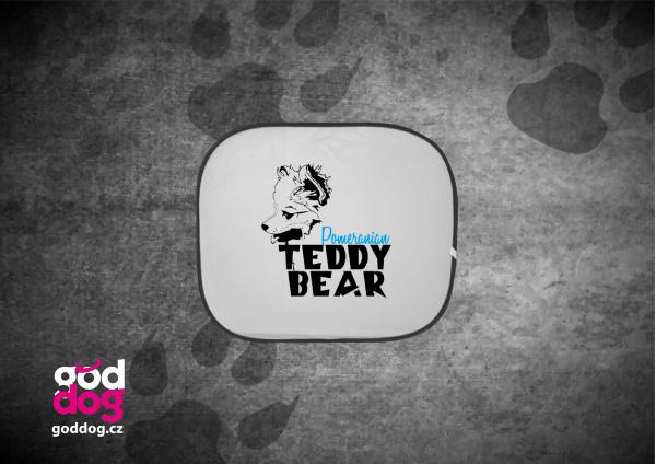 """Autostínítko s potiskem pomeraniana """"Teddy Bear"""""""