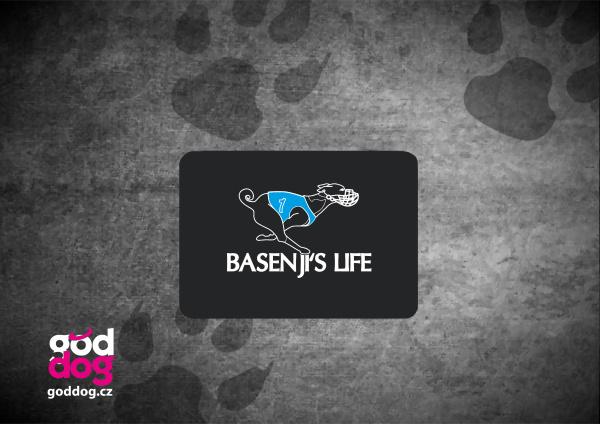 """Podložka pod myš s potiskem basenji """"Basenji's Life"""""""