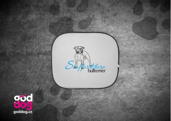 "Autostínítko s potiskem staffbulla ""Staffordshire Bullterrier"""