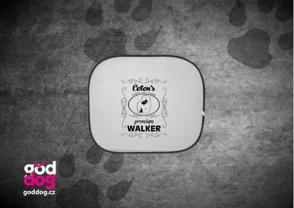 "Autostínítko s potiskem cotonka de tuléar ""Coton Premium Walker"""