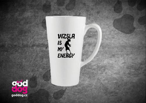 """Latté s potiskem maďarského ohaře """"Vizsla Energy"""""""