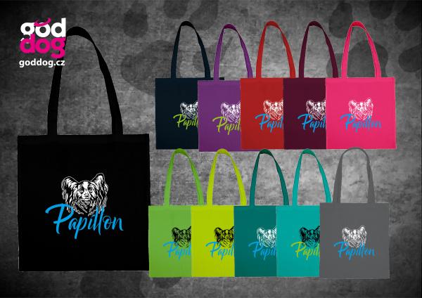 """Nákupní plátěná taška s potiskem papillona """"Papillon"""""""