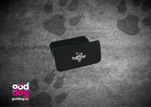 """Dámská peněženka s potiskem čínského chocholatého psa """"Silueta"""", velká"""