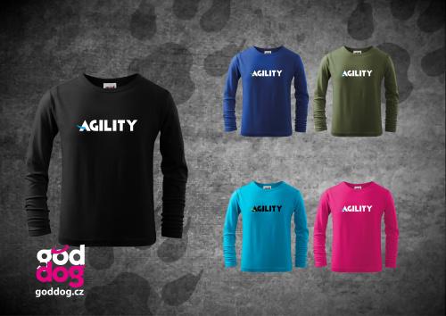 """Dětské triko s potiskem agilit """"Agility"""", dl.rukáv"""