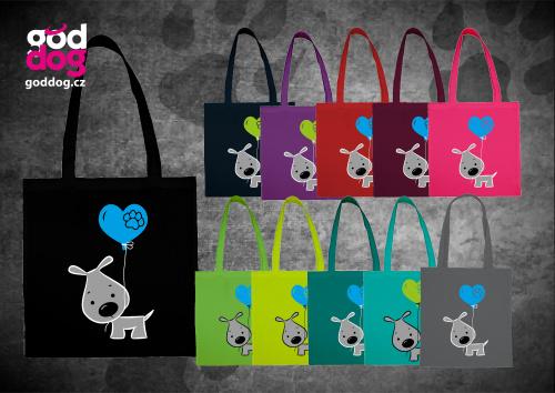 """Nákupní plátěná taška s potiskem psa """"Cute Dog"""""""