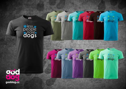 """Pánské triko s potiskem psa """"More Dogs"""", kr.rukáv"""