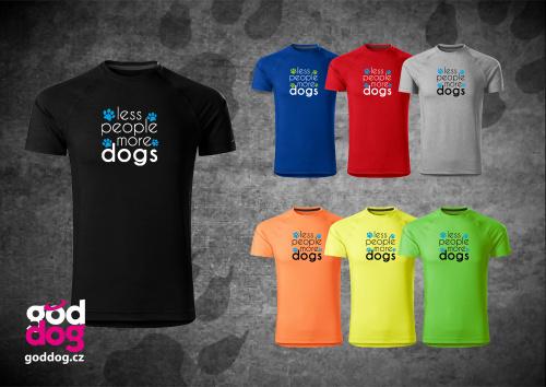 """Pánské funkční triko s potiskem psa """"More Dogs"""""""