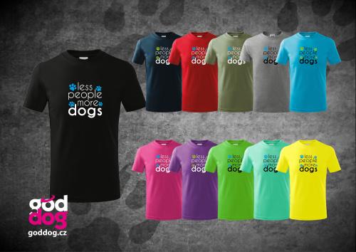 """Dětské triko s potiskem psa """"More Dogs"""", kr.rukáv"""