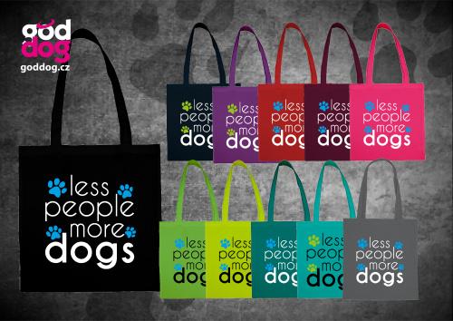 """Nákupní plátěná taška s potiskem psa """"More Dogs"""""""