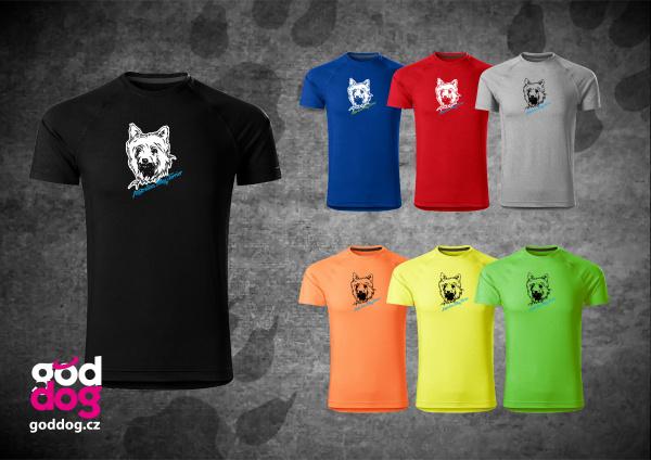 "Pánské funkční triko s potiskem silky teriéra ""Silky Terrier"""