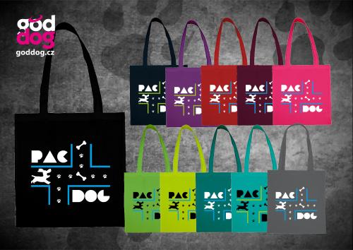 """Nákupní plátěná taška s potiskem psa """"PacDog"""""""