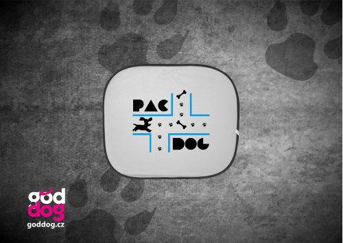 """Autostínítko s potiskem psa """"PacDog"""""""