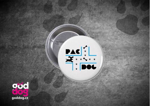 "Placka s potiskem psa ""PacDog"""