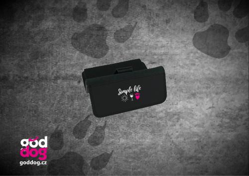 """Dámská peněženka s potiskem psa """"Simple Life"""", velká"""
