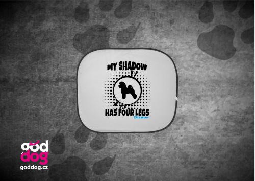 """Autostínítko s potiskem bišonka """"My Shadow"""""""