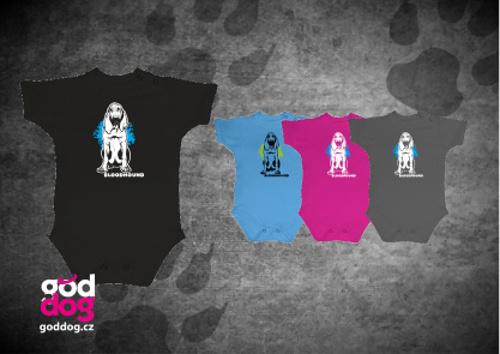 """Dětské body s potiskem bloodhounda """"Bloodhound"""""""