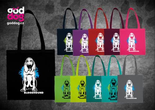 """Nákupní plátěná taška s potiskem bloodhounda """"Bloodhound"""""""