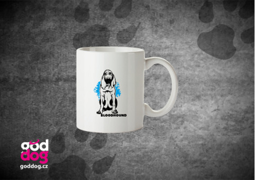 """Keramický hrnek s potiskem bloodhounda """"Bloodhound"""""""