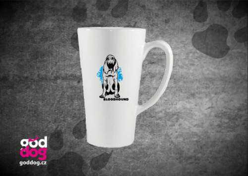 """Latté s potiskem bloodhounda """"Bloodhound"""""""