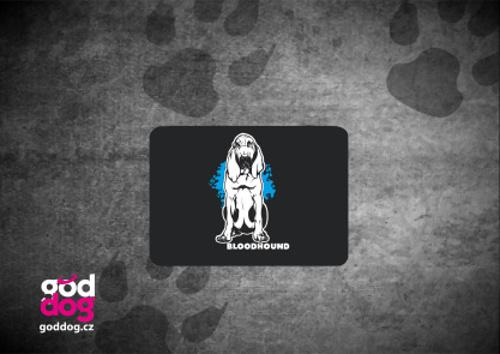 """Podložka pod myš s potiskem bloodhounda """"Bloodhound"""""""