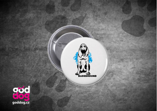 "Placka s potiskem bloodhounda ""Bloodhound"""
