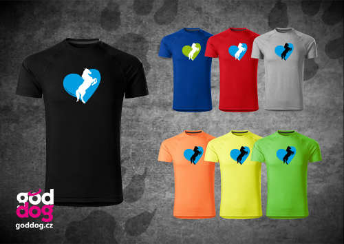 """Pánské funkční triko s potiskem koně """"Heart Horse"""""""