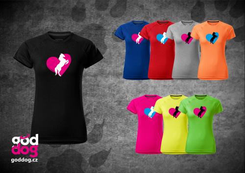 """Dámské funkční triko s potiskem koně """"Heart Horse"""""""
