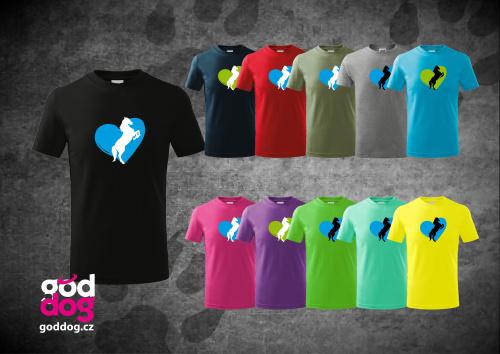 """Dětské triko s potiskem koně """"Heart Horse"""", kr.rukáv"""