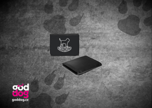 """Pánská peněženka s potiskem bloodhounda """"Silueta"""""""