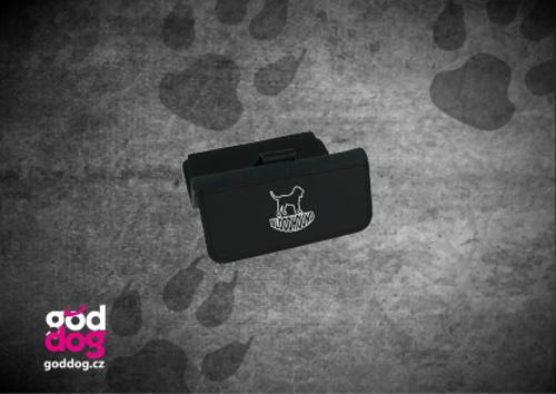 """Dámská peněženka s potiskem bloodhounda """"Silueta"""", velká"""